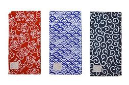 Made in Japan Komon Tenugui Towel 3 type set