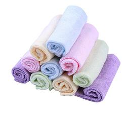 Moolecole Bamboo Fiber Baby Washcloths Extra Soft Towel for