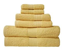"Premium 6 Piece Cotton Bath Towel Set; 2 Bath Towels 27x52"","