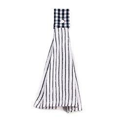 SNW 2 Pcs Kitchen Cotton Classical Striped Towel / Absorbent