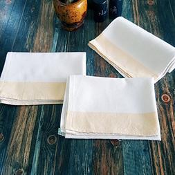 Secret Sea Collection- Set of 3, Linen-Cotton Blend, Handmad