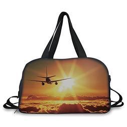 Travel handbag,Scenery Decor,Aeroplane Aircraft Widebody Jet