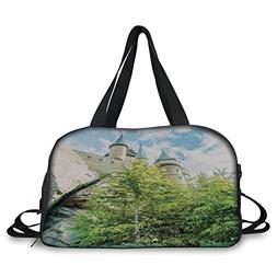 Travel handbag,Wizard,Witchcraft School and Wizard Castle in