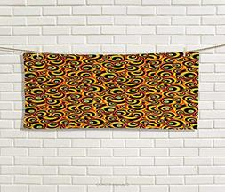 Anniutwo Abstract,Hand Towel,Spiral Round Colorful Disc Shap