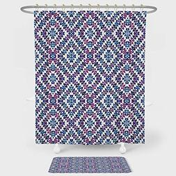 iPrint Abstract Shower Curtain And Floor Mat Combination Set