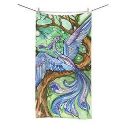 ADEDIY Fashion Custom Towel Blue Bird Bath Towel 30x56 Inch