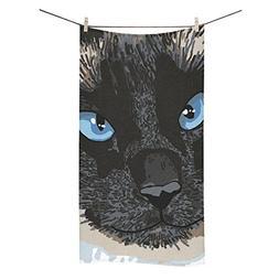 ADEDIY Fashion Custom Towel Cute Bear with Blue Eyes Bath To