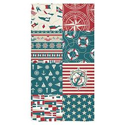 ADEDIY Fashion Custom Towel Ocean Lover Nautical Anchor and