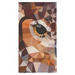 ADEDIY Fashion Custom Towel Owl Eye Modern Geometric Art Bat