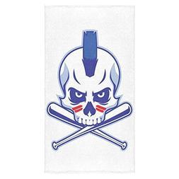 ADEDIY Fashion Custom Towel Skull Bath Towel 30x56 Inch Bath