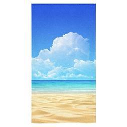 ADEDIY Fashion Custom Towel Summer Beach Sandy Boundless Sea