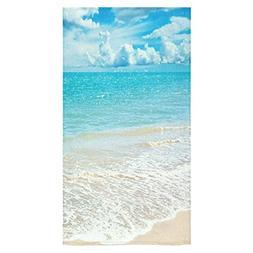 ADEDIY Fashion Custom Towel Tropical Beach Theme Ocean Waves