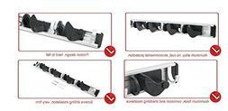 Freye Adjustable Aluminum Broom and Mop Holder with 4 Positi