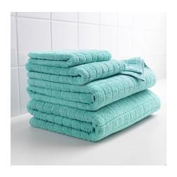 afjarden turquoise green thick bath towels asst