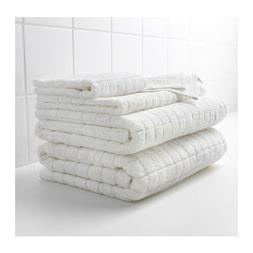 afjarden white thick bath towels assorted sizes