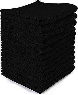Alurri Washcloth Towel Set, 12-Pack, 100% Extra Soft Cotton,