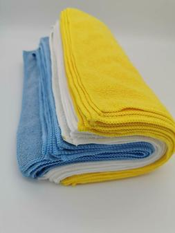 AmazonBasics Blue and Yellow Microfiber Cleaning Cloth, 24-P