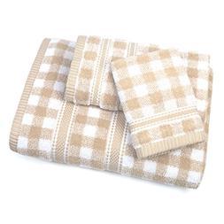ADI American Dawn 6920KL965 Gingham 3 Piece, Towel Set, Sesa