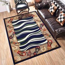 GuoEY American Living Room Carpet Coffee Table Pad Bedroom B