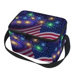 32482d298965 Naanle American USA Flag Canvas Zipper I...