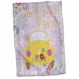 3dRose Andrea Haase Art Illustration - Yellow Hippie Car And