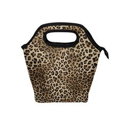 Naanle Animal Print Insulated Zipper Lunch Bag Cooler Tote B