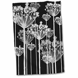 3D Rose Contemporary Black-White-and Gray Dandelions Hand To