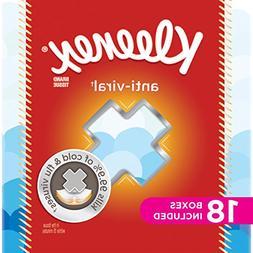 Kleenex Anti-Viral Facial Tissues, Cube Box, 68 Tissues per
