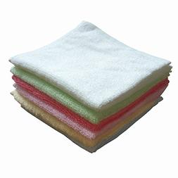 Taprilt Antibacterial 100% Bamboo Washcloths, Face Cloths, H