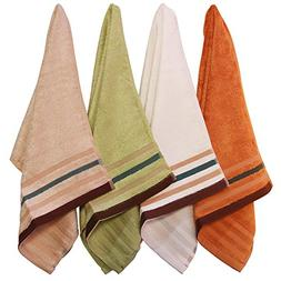 4-Piece Antibacterial Durable Towel Sets Bamboo Fiber Facecl