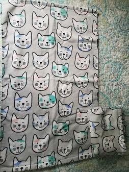 Artisan NY Home Lot of 2- Gray w/Cat Head Design Hand Towels