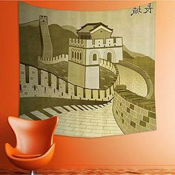 Nalahomeqq Asian Decor Custom tapestry by Great Wall of Chin