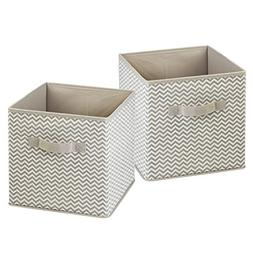 InterDesign Chevron Fabric Closet Organizer Box – Soft Sto
