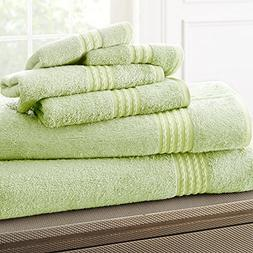 eLuxurySupply Bamboo Cotton Towel Set - Soft and Absorbent -