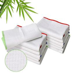 Luckiss 100% Bamboo Dish Cloths Cleaning Cloth and Dishcloth