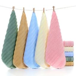 bamboo fiber wave towel baby hand square