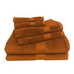 6PC Bamboo-Blend Towel set including 2 bath towels, 2 hand t