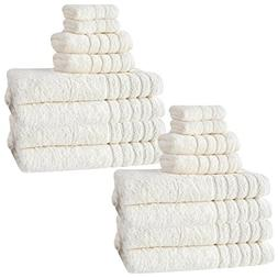 Barnum Collection 16 Piece Turkish Cotton Bath Towel Set, Iv
