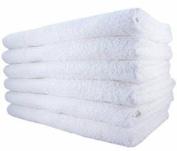 """EOM Basic White Hand Towels Cotton 16"""" X 27"""" 12 Pack"""