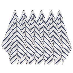 Now Designs Basketweave Kitchen Towel, Set of Six, Indigo Bl