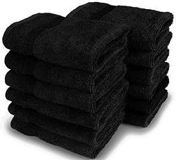 """IZO.BATH - 12 Pack 12""""x12"""" Cotton Fingertip-Hand-Face Towels"""