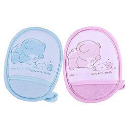 Newborn Bath Brush Soft Pure Cotton Baby Bath Foam Rub Showe