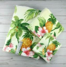 Tommy Bahama Bath Hand Fingertip Towel Set 3 Pc Summer Vacat