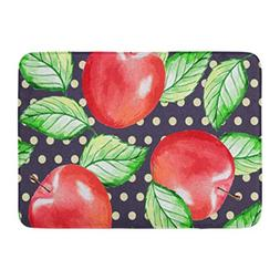 Aabagael Bath Mat Autumn Red Paint Watercolor Hand Drawn App