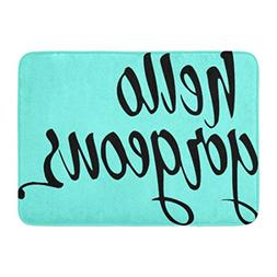Ablitt Bath Mat Tub Hello Gorgeous Brush Lettering Calligrap