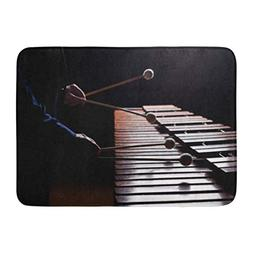 Aabagael Bath Mat Wood Brown Classic the Hands of Musician P