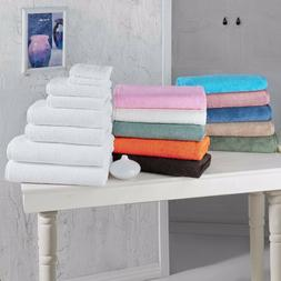 Bath Sheet & Bath Towel Set Plush Turkish Cotton Towels 8 pc