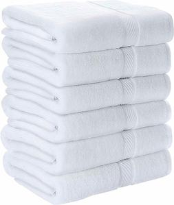 6 Bath Towels 22x44 Inch Soft Absorbent Cotton Pool Gym by U