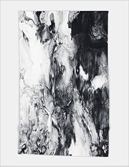 Minicoso Bath Towel abstract hand painted black and white ba