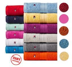 Tommy Hilfiger Bath Towel Collection 100% Cotton Towels